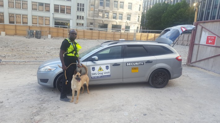 SRS dog unit on site